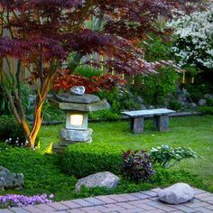 Elegant Large Crane Statue Is A Feature In This Japanese Style Garden. |  Art In The Garden | Pinterest | Japanese Style, Gardens And Garden Art
