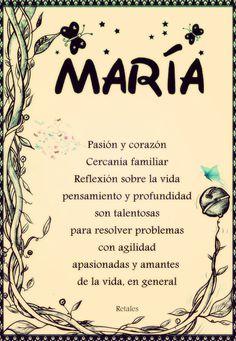 Que significa tu nombre... - María #wattpad #de-todo