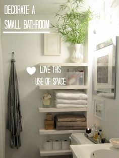 ideas to add storage in a small bathroom beside the toilet                                                                                                                                                                                 More