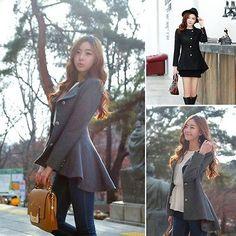 Lady Women Warm Tailcoat Slim Wool Coat Long Sleeve Casual Suit Outwear Jacket