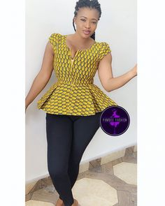 Lovely Ankara Tops For Ladies - Latest African Fashion 2019 African Fashion Ankara, Latest African Fashion Dresses, African Print Fashion, Africa Fashion, Ghana Fashion, Short African Dresses, African Print Dresses, African Lace, Ankara Tops
