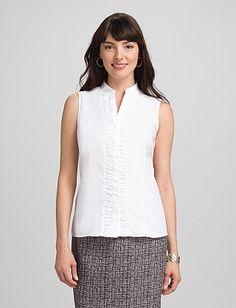 JONES STUDIO® Ruched Button-Down Shirt