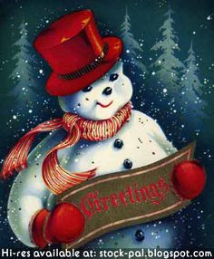 christmas snowmen | ... Frosty the Snowman in the snow wishing you happy Christmas Greetings