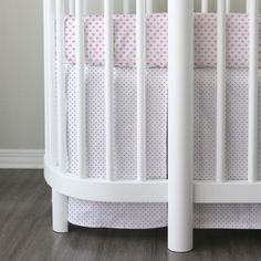 Hula crib skirt - pink collection. See this and more at Lublini.com The Oval crib bedding experts since 2009. #hula
