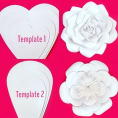 Paper Flower Templates DIY Kit by PaperPoshEvents1 on Etsy