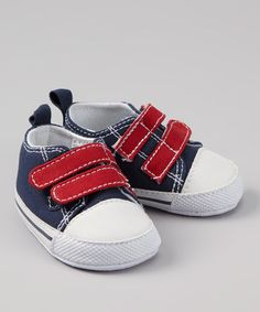 Take a look at this Navy & Red Sneaker by so'dorable on #zulily today!