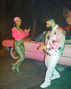 June 5: Rihanna & Dj Khaled on set of a music video in Miami.