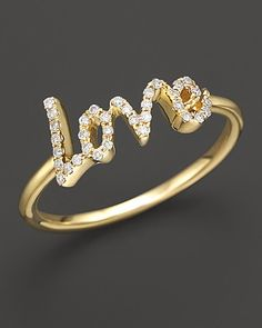 Meira T Diamond Love Ring, .12 ct. t.w. | Beautiful  maybe this instead of the classical wedding ring.