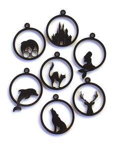Open Back Bezel Pendants - DIY Jewellery - Laser Cut Black Acrylic - Jewellery Supplies Laser Art, 3d Laser, Laser Cut Wood, Laser Cutting, Cat Supplies, Jewelry Supplies, Stylo 3d, 3d Printer Designs, 3d Printer Projects