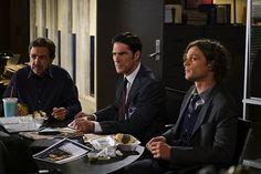 Joe Mantegna, Thomas Gibson, and Matthew Gray Gubler in Criminal Minds (2005)