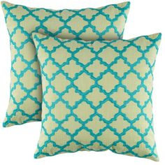 I pinned this Madison Pillow in Leaf - Set of 2 from the Rizzy Home event at Joss and Main!