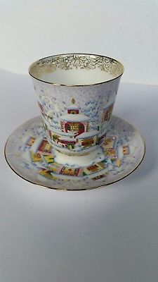 Russian Imperial Lomonosov porcelain cup with saucer