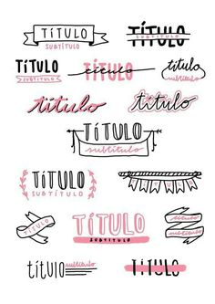 Bullet journal and notes titles inspo Bullet Journal Headers, Bullet Journal School, Bullet Journal Ideas Pages, Bullet Journal Inspiration, Bullet Journals, Daily Journal, Bullet Journal Ideas Handwriting, Handwriting Ideas, Bullet Journal Font