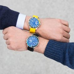 Fortis (official) Yellow, Blue, Watches, Men, Style, Fashion, Swag, Moda, Wristwatches