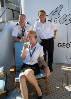 Members of a #Megayacht #Crew. Photo courtesy of Suki Finnerty from YachtingToday.TV.