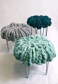 African artist Ronel Jordaan felted seats. Think of all that wonderful roving!