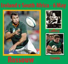 #rugby history Born today 06/05 in 1877 : John Coffey (Ireland) played v South Africa in 1906 ... Born today 06/05 in 1986 : Sean Cronin (Ireland) played v South Africa in 2012 ... Born today 06/05 in 1978 : Danie Rossouw (South Africa) played v Ireland in 2006, 2009 ... http://www.ticketsrugby.com/rugby-tickets/games/Ireland-South-Africa-rugby-tickets.php