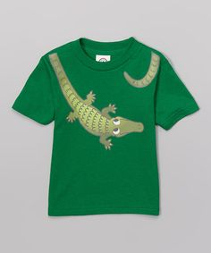 Another great find on #zulily! Kelly Green Alligator Tee - Toddler & Boys #zulilyfinds