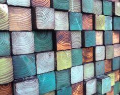 Parete in legno arte scultura da parete legno di WallWooden