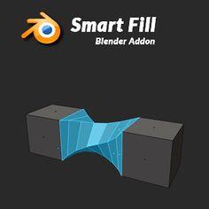 Smart Fill - Addon for Blender Blender 3d, Blender Models, 3d Design, Game Design, Blender Addons, Ninja Professional Blender, Visual Analytics, Adobe Animate, Blender Tutorial