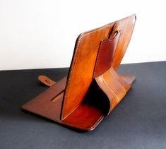 Multi-Fun Crazy-Horse Leather Portfolio With Zipper Hifriend Handmade Padfolio