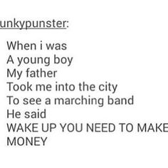 That's how you know you've listened to too many bands