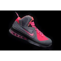 Nike LeBron IX 9 Womens Basketball Shoes Pink Carbon Grey