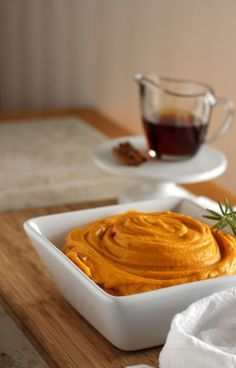 Maple Whipped Sweet Potatoes - Whipped sweet potatoes flavored with pure maple syrup. Perfect for your Thanksgiving dinner or great side dish for any meal. Whipped Sweet Potatoes, Mashed Sweet Potatoes, Pureed Food Recipes, Cooking Recipes, Diabetic Recipes, Thanksgiving Recipes, Holiday Recipes, Cooking Sweet Potatoes, Sweet Potato Recipes
