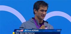 Nathan with his gold medal