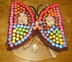 My non-baking self might be able to pull off this butterfly cake...
