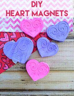 DIY Heart Magnets -