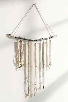 Shop Magical Thinking Hanging Branch Jewelry Stand at Urban Outfitters today. Jewelry Organizer Wall, Wall Organization, Jewellery Storage, Jewelry Organization, Urban Outfitters, Magical Thinking, Hanging Jewelry, Jewelry Stand, Jewelry Holder