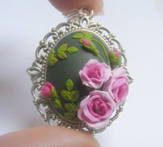 Rose Necklace Rose Jewelry Rose Pendant Pink Roses Rose