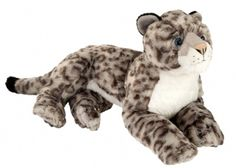 Snow Leopard (16-inch Laying Cuddlekins Stuffed Animal) at theBIGzoo.com, a family-owned gift shop with 12,000+ animal-themed items.