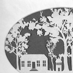 Silhouette of the UNC Chapel Hill campus :: Virtual Museum