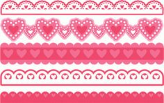 Silhouette Online Store - View Design #54720: valentine borders