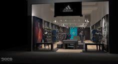 Visual merchandising Adidas & Reebok multi brand store by Boco Group, Warsaw – Poland