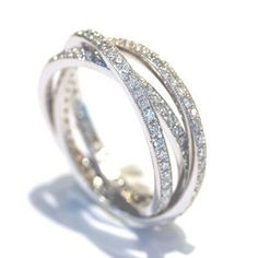 Diamond Eternity Band 14k White Gold Diamond Wedding Ring Women Wedding Band… Vintage Engagement Rings