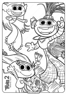 Printable Trolls 2 Queen Barb Pdf Coloring Page in 2020 ...