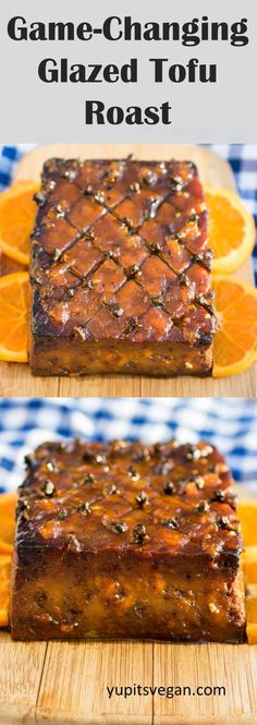 vegan christmas recipes Glazed Tofu Roast (AKA the actual best tofu ever) via yupitsvegan Healthy Vegan Dessert, Cake Vegan, Vegan Foods, Vegan Dishes, Vegan Recipes, Vegan Ham Recipe, Dinner Healthy, Easter Dinner Recipes, Holiday Recipes