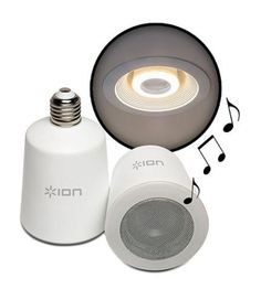 Sound Shine Audio Bulbs-somebody I used to know installed a speaker into their bathroom ceiling so we could listen to music while showering. 😊 Now they have these.