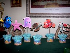 finding nemo easy center pieces decoration | Finding nemo birthday