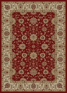 "Adana Zeigler Red Rug Rug Size: 7'10"" x 10'10"" Traditional / Oriental. 7'10"" x 10'10"". Ankara. Machine Made in Turkey."