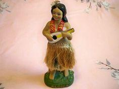 Vintage Hawaiian Hula Girl Dashboard Doll Wiggler Nodder Aloha