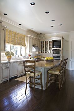 great elements of this kitchen cabinet color, wood floors
