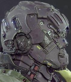 Cyborg Helmet Ref03