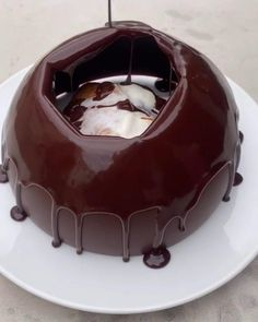 Would You Eat This Beauty? 😋 #chocolate #meltingchocolate #chocolatelab #chocolatesauce #chocolatedessert #chocolateart #chocolateoverload #chocolatedome #chocolatecake Chocolate Dome, Chocolate Art, Chocolate Desserts, Melting Chocolate, Fluffy Pancakes, Easy Cake Recipes, Slime, Photography Poses, Salad Recipes