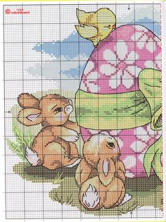 Gallery.ru / Фото #83 - салфетки картинки - irisha-ira. Easter Cross Stitch Pattern 1/2