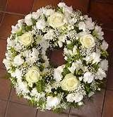 blue cream and white funeral crown – Sympathy Flowers – Wreaths Funeral Arrangements, Flower Arrangements, White Wreath, Floral Wreath, Saffron Flower, Funeral Sprays, Cemetery Flowers, Sympathy Flowers, Funeral Flowers