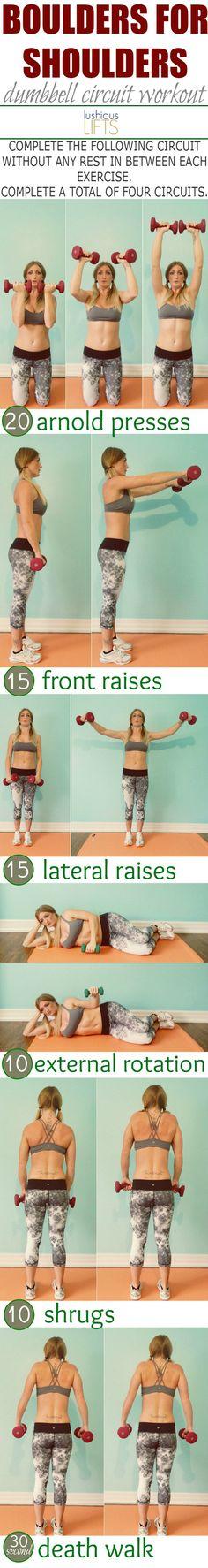 Boulders for Shoulders! Dumbbell Circuit Workout
